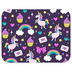 Cute Unicorn Pattern Full Print Lunch Bag by Valentinaart