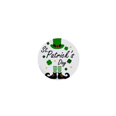 St Patricks Leprechaun 1  Mini Buttons by Valentinaart