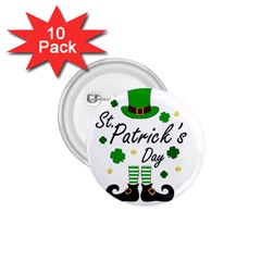 St Patricks Leprechaun 1 75  Buttons (10 Pack) by Valentinaart