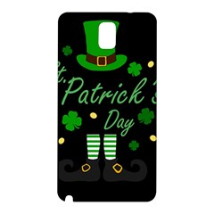 St Patricks Leprechaun Samsung Galaxy Note 3 N9005 Hardshell Back Case by Valentinaart