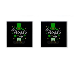 St Patricks Leprechaun Cufflinks (square) by Valentinaart