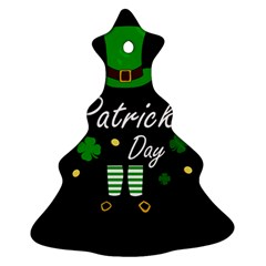 St Patricks Leprechaun Christmas Tree Ornament (two Sides) by Valentinaart