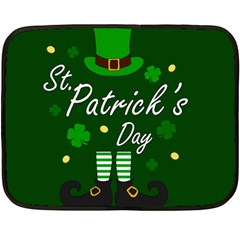 St Patricks Leprechaun Fleece Blanket (mini)