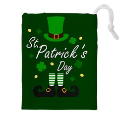 St Patricks Leprechaun Drawstring Pouches (xxl) by Valentinaart