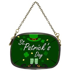 St Patricks Leprechaun Chain Purses (two Sides)  by Valentinaart
