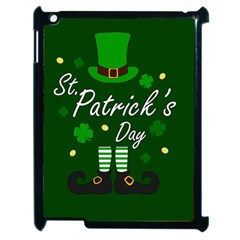 St Patricks Leprechaun Apple Ipad 2 Case (black) by Valentinaart