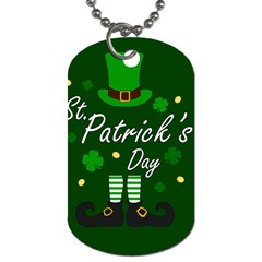 St Patricks Leprechaun Dog Tag (one Side) by Valentinaart