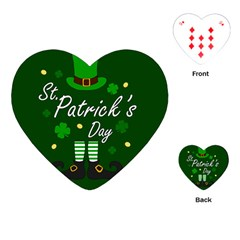 St Patricks Leprechaun Playing Cards (heart)  by Valentinaart