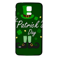 St Patricks Leprechaun Samsung Galaxy S5 Back Case (white)