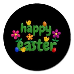 Happy Easter Magnet 5  (round) by Valentinaart