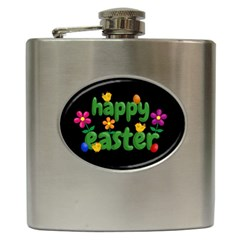 Happy Easter Hip Flask (6 Oz)