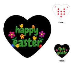 Happy Easter Playing Cards (heart)