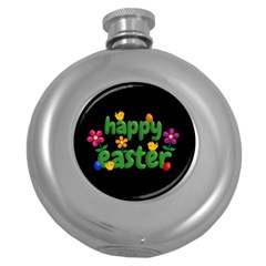 Happy Easter Round Hip Flask (5 Oz)
