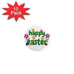 Happy Easter 1  Mini Magnet (10 Pack)  by Valentinaart