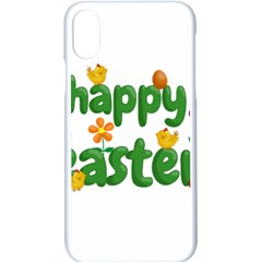 Happy Easter Apple Iphone X Seamless Case (white) by Valentinaart
