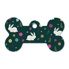 Easter Bunny  Dog Tag Bone (one Side)