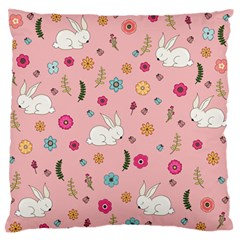 Easter Bunny  Large Flano Cushion Case (two Sides)