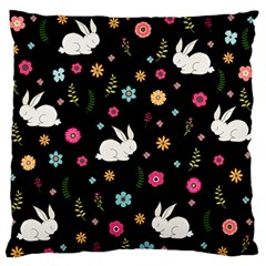 Easter Bunny  Large Flano Cushion Case (one Side) by Valentinaart