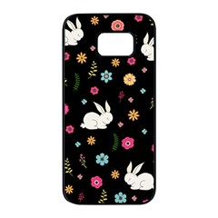 Easter Bunny  Samsung Galaxy S7 Edge Black Seamless Case by Valentinaart