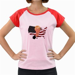 Trump Usa Flag Women s Cap Sleeve T Shirt by ImagineWorld