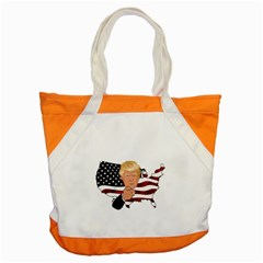 Trump Usa Flag Accent Tote Bag by ImagineWorld