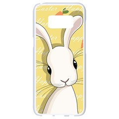 Easter Bunny  Samsung Galaxy S8 White Seamless Case by Valentinaart