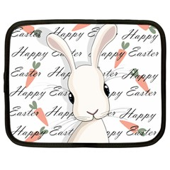 Easter Bunny  Netbook Case (large) by Valentinaart