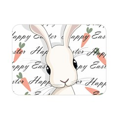 Easter Bunny  Double Sided Flano Blanket (mini)  by Valentinaart