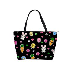 Easter Kawaii Pattern Shoulder Handbags by Valentinaart