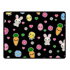 Easter Kawaii Pattern Fleece Blanket (small) by Valentinaart
