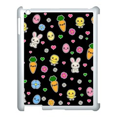 Easter Kawaii Pattern Apple Ipad 3/4 Case (white) by Valentinaart