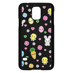 Easter Kawaii Pattern Samsung Galaxy S5 Case (black)