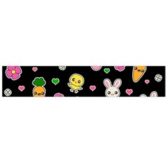 Easter Kawaii Pattern Large Flano Scarf