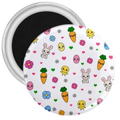 Easter Kawaii Pattern 3  Magnets by Valentinaart
