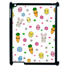Easter Kawaii Pattern Apple Ipad 2 Case (black) by Valentinaart