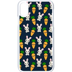 Easter Kawaii Pattern Apple Iphone X Seamless Case (white)