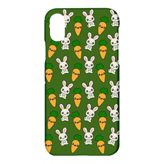 Easter Kawaii Pattern Apple Iphone X Hardshell Case by Valentinaart