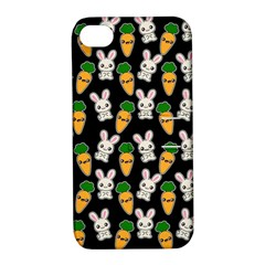 Easter Kawaii Pattern Apple Iphone 4/4s Hardshell Case With Stand