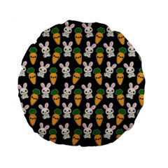 Easter Kawaii Pattern Standard 15  Premium Flano Round Cushions by Valentinaart
