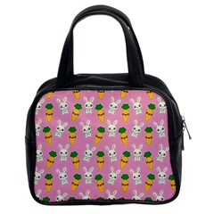 Easter Kawaii Pattern Classic Handbags (2 Sides) by Valentinaart