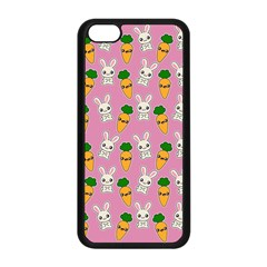 Easter Kawaii Pattern Apple Iphone 5c Seamless Case (black) by Valentinaart