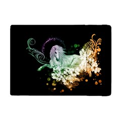 Wonderful Unicorn With Flowers Apple Ipad Mini Flip Case