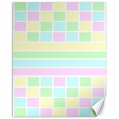 Geometric Pastel Design Baby Pale Canvas 16  X 20
