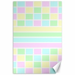 Geometric Pastel Design Baby Pale Canvas 24  X 36  by Nexatart