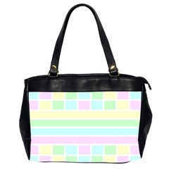 Geometric Pastel Design Baby Pale Office Handbags (2 Sides)
