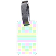 Geometric Pastel Design Baby Pale Luggage Tags (one Side)  by Nexatart