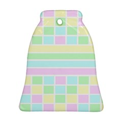Geometric Pastel Design Baby Pale Ornament (bell)