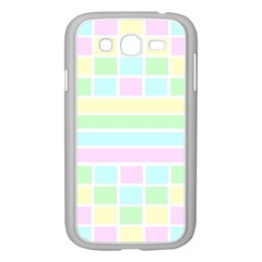 Geometric Pastel Design Baby Pale Samsung Galaxy Grand Duos I9082 Case (white) by Nexatart