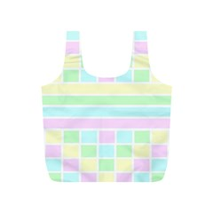 Geometric Pastel Design Baby Pale Full Print Recycle Bags (s)  by Nexatart
