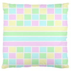 Geometric Pastel Design Baby Pale Standard Flano Cushion Case (one Side)